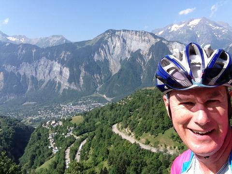 Halfway up l'Alpe d'Huez